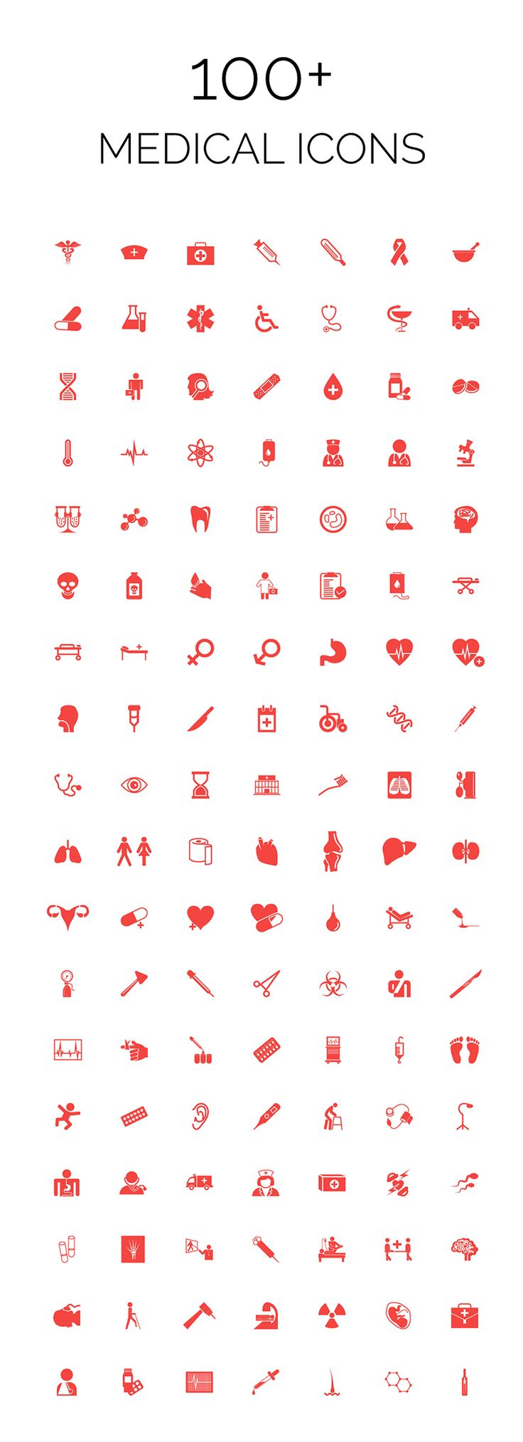 100 Medical Icons