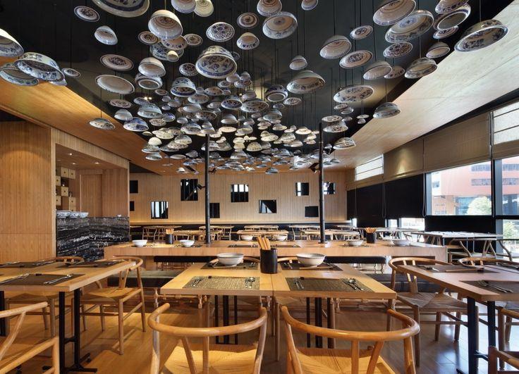 http://www.contemporist.com beijing noodle barDesign Inspiration, Taiwan Noodles, International Design, Noodles House, Ceilings Design, Interiors Design, Golucci International, Restaurants Design, Bar