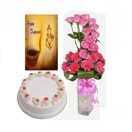 Buy Online Diwali Sweets with Cake