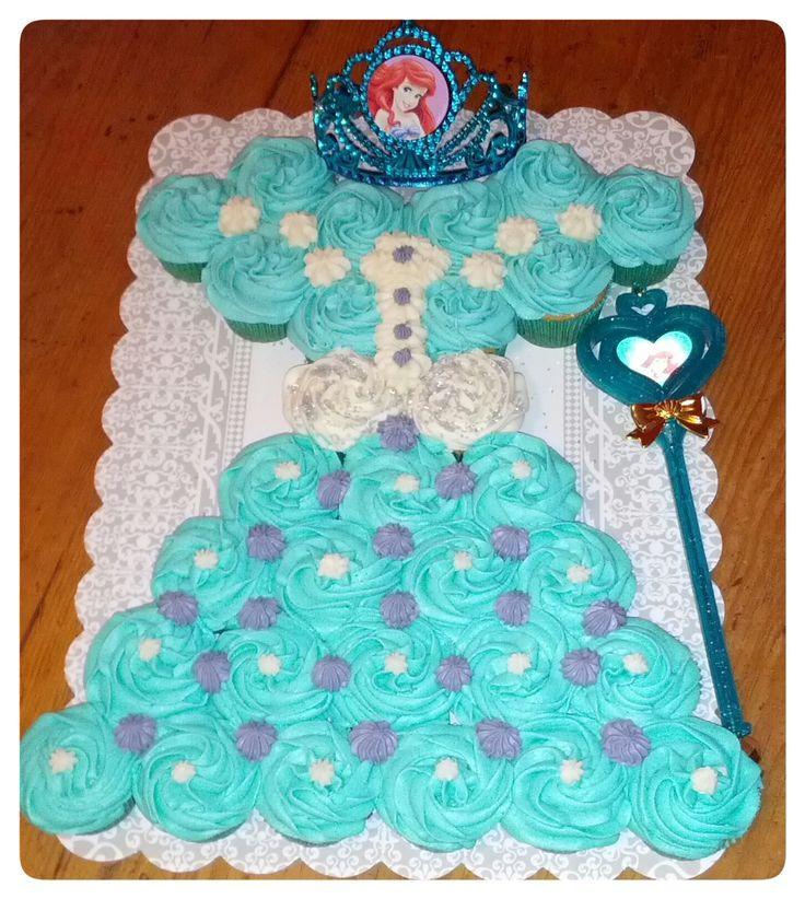 Ariel princess pull apart cupcake cake!