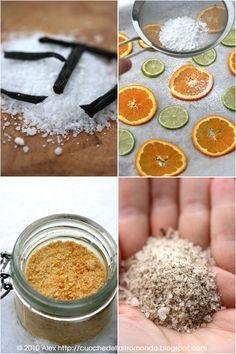 Sale con fette di arancia e Sale alla vaniglia