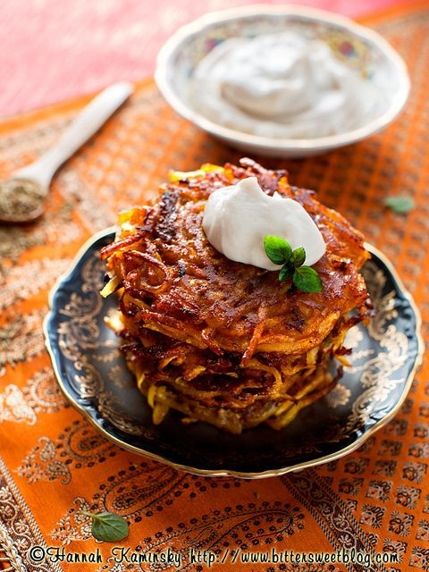 These Bombay Aloo Latkes aren't just vegan—they have a punch of fragrant Indian flavor.