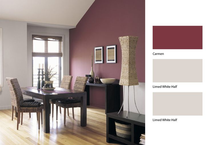 Define Your Dining Room Area With A Little Help From Dulux Paint Perhaps Use The Pale Colour Above Dado Rail And Darker Red Below