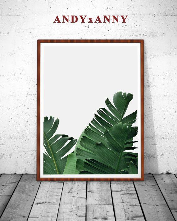 Banana Leaf Print blad afdrukken palmtak tropische door ANDYxANNY