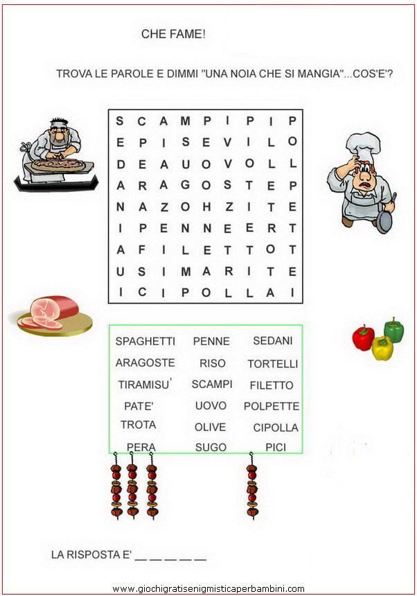 chefame_g Enigmistica per bambini e ragazzi