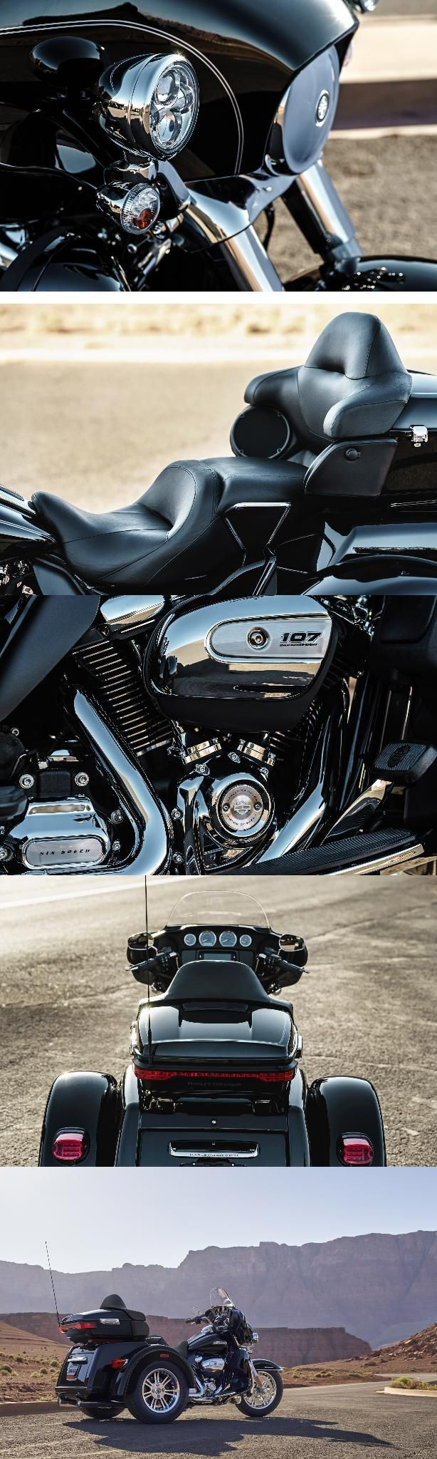 How much motorcycle can you fit on three wheels? One look at the Tri Glide Ultra & you'll have your answer. | 2017 Harley-Davidson Tri Glide Ultra