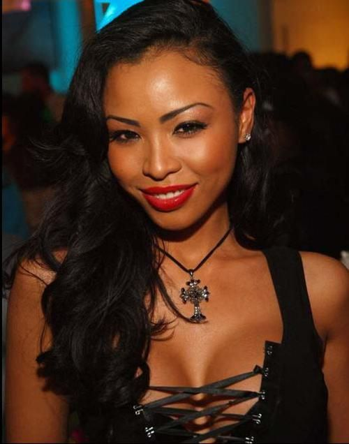 Blasian Beauty Tomika Skanes Striking