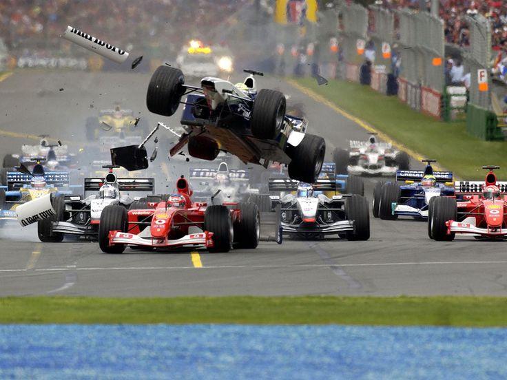 Formula 1 crash at Albert Park, Australia