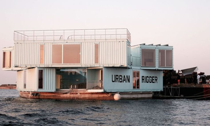 Copenhagen just installed Urban Rigger, an experimental affordable housing project made of floating shipping container dorms | Inhabitat - Green Design, Innovation, Architecture, Green Building