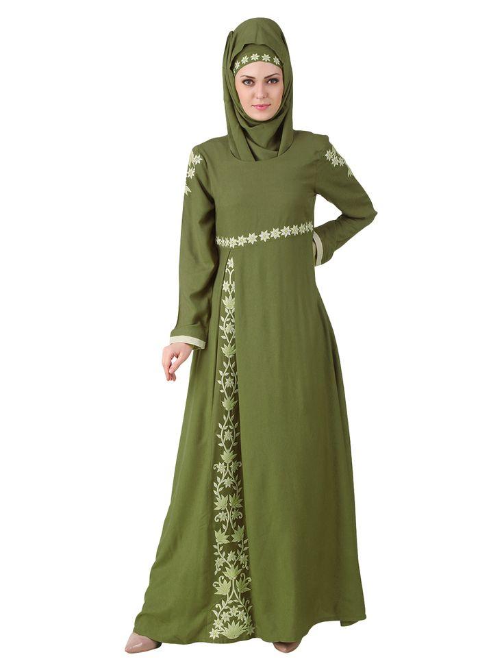 MyBatua #Afsa #Green #Rayon #Abaya   Available in sizes XS to 7XL, lenth 50 to 66 inches. https://www.mybatua.com/catalogsearch/result/?q=Afsa+Green+Rayon+Abaya Whatsapp: +91-8826009522 (Worldwide Shipping)  #Dubaiabaya #Dubaistyle #Dubaifashion #Dubaijilbab #Dubaihijab
