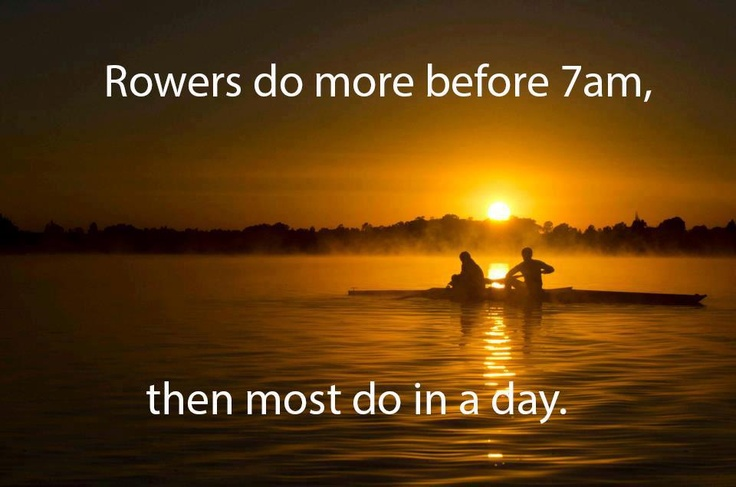 Love that smug post-exercise feeling  #healthysportsister2013  Credit: Temujin Tim Johnson    Rowing Memes Facebook Page