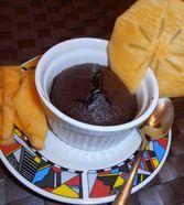 Schokoladenkuchen mit flüssigem Kern à la Italia