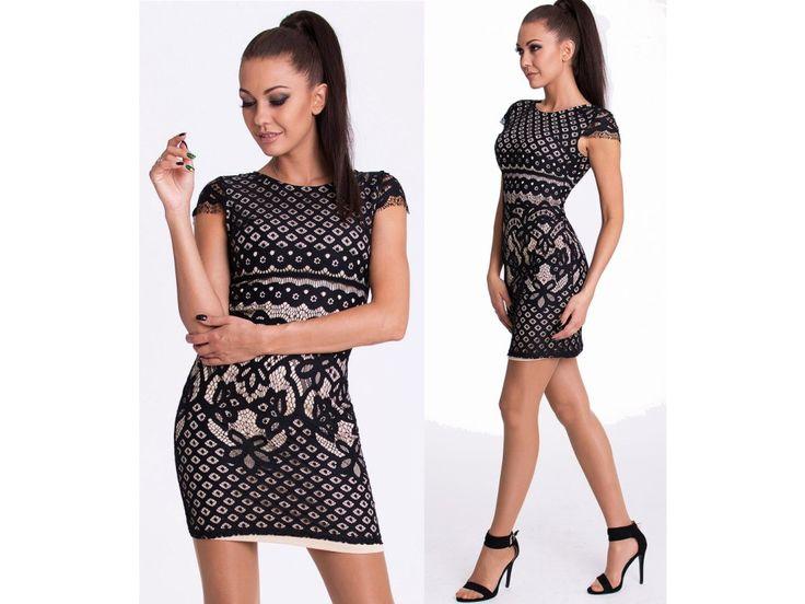 Krajkove spolecenske saty EMAMODA PARIS - NEW DESIGNER lace prom dress EMAMODA PARIS in stock