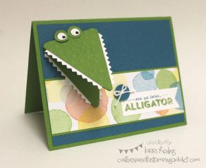 See Ya Later Alligator! :: Confessions of a Stamping Addict Lorri Heiling