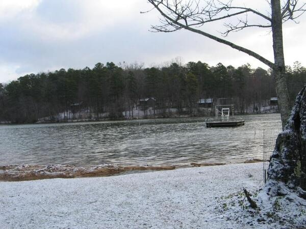 Oconee State Park in snow