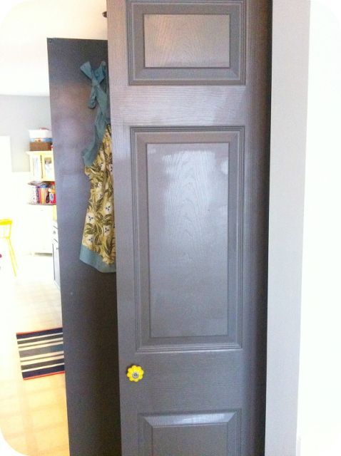 how to turn a bifold closet door into french doors