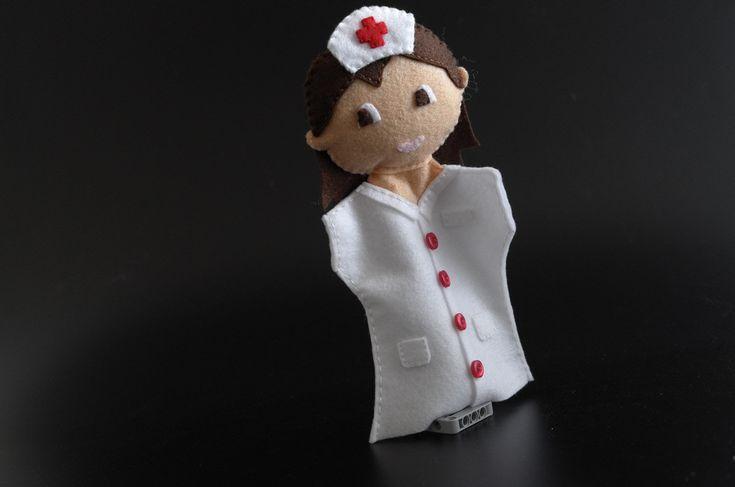 Nurse doll - nurse, toys, hospital, doctor and nurse, nurse toy, hospital decor - by KinkinPuppets on Etsy