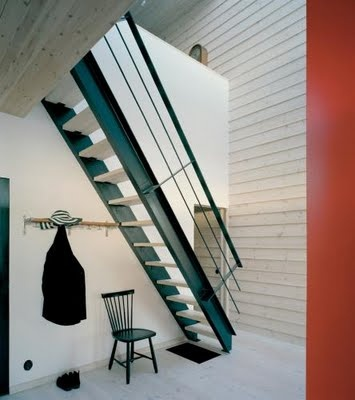 Steep staircase for DINK period - Summer house outside Stockholm