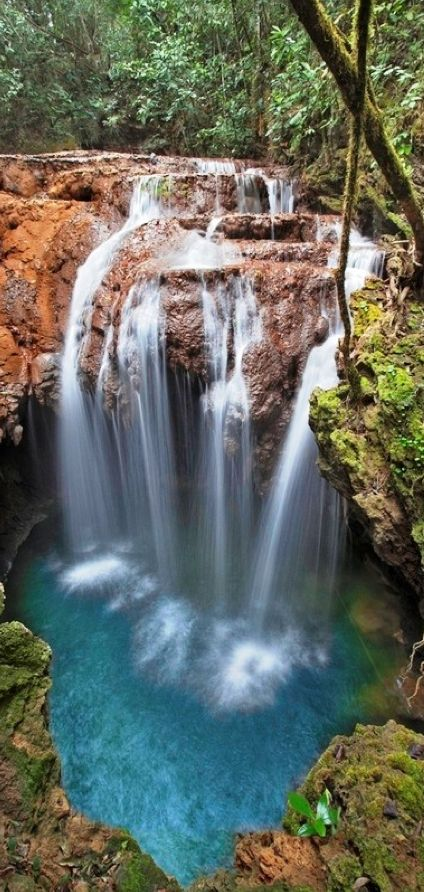 Monkey's Hole Waterfalls in Bonito, Mato Grosso do Sul, Brazil