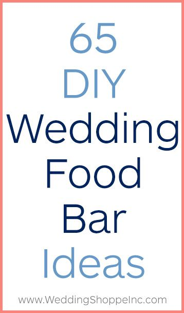 Yum! These DIY wedding food bars will impress every single guest.