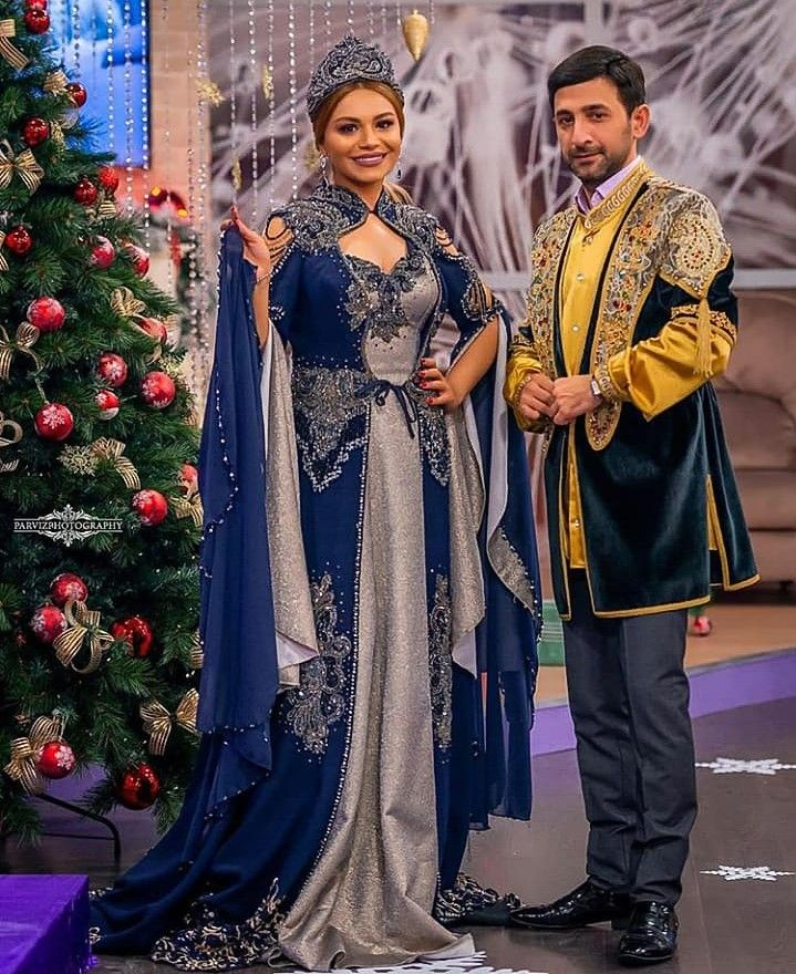 Turkan Velizade Ve Perviz Bulbule Fashion Saree Sari