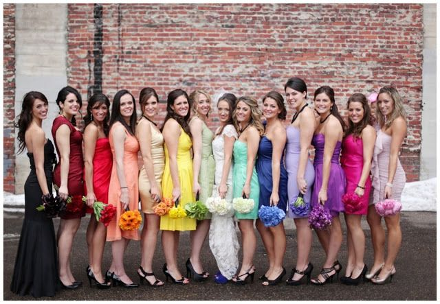 One of every colour. You could even invite your guests to join in with the theme.