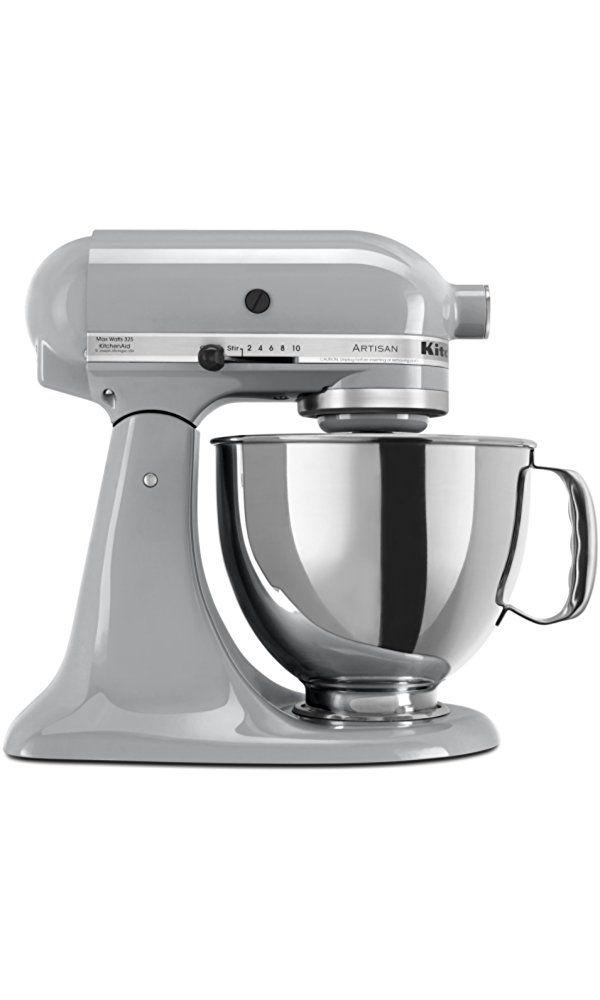 KitchenAid KSM150PSMC Artisan Series 5-Qt. Stand Mixer with Pouring Shield - Metallic Chrome Best Price