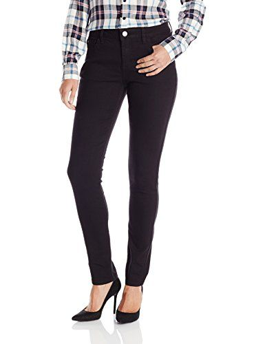 Wrangler Authentics Womens Mid Rise Skinny Jean Black 16 ** Click image to review more details.