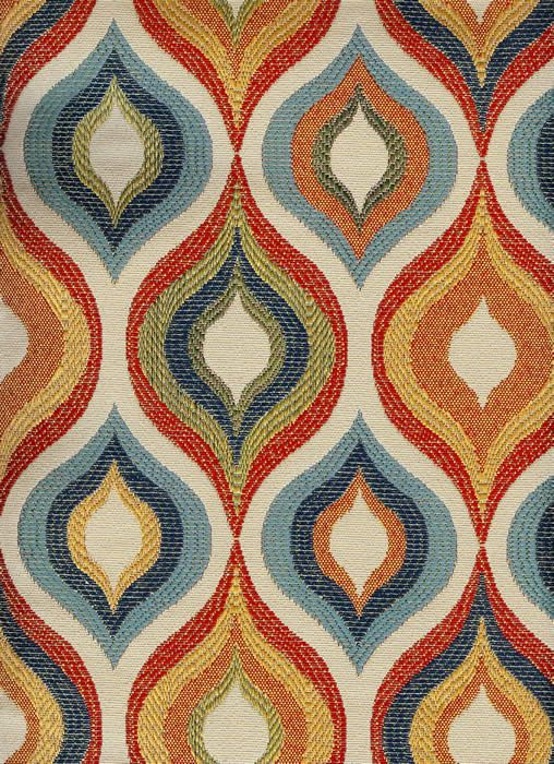 The Whole 9 Yards - Mid-Century Modern Upholstery Fabric - Flicker