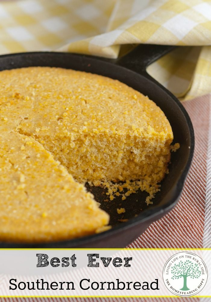 Delicious and slightly tangy sweet, this southern cornbread won over my hubby. Get the recipe and see why for yourself! The Homesteading Hippy #homesteadhippy #fromthefarm #recipes