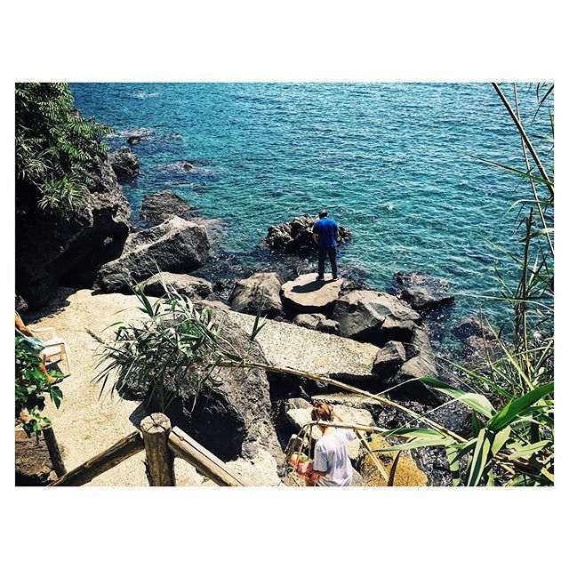 Love this small beach in Ischia 🏖❤️ #italy #ischia #sea #beach #rocks #summer #nature #beautiful #view #landscape #live #life #me #happy #travel #photo #photography #photooftheday #follow4follow #followyourdreams #mood #ischiaisolaverde #colour #instagood #instadaily #holiday #adventures #places #places_wow #earth