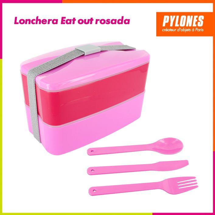 Lonchera Eat out rosada #Regalos #Novedades @pylonesco