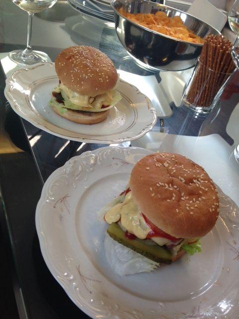 Home-made (acctually company-made ;) ) Burgers! Delicious! thx Przem & Mieszko