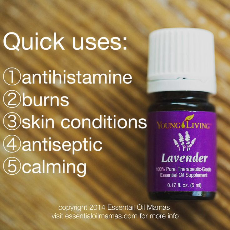 EssentialOilMamas.com  Uses for Lavender, Young Living Essential Oils, infection, antihistamine, allergies, sleep, calming, teething, pain, pain relief, relax, peace, rest, burns, bee sting, ant bite, sunburn relief, natural sunscreen