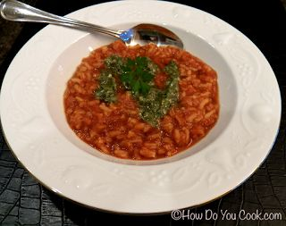 Creamy Tomato Rice Soup with Pesto | Hearty Soups, Stews, Chili and B ...