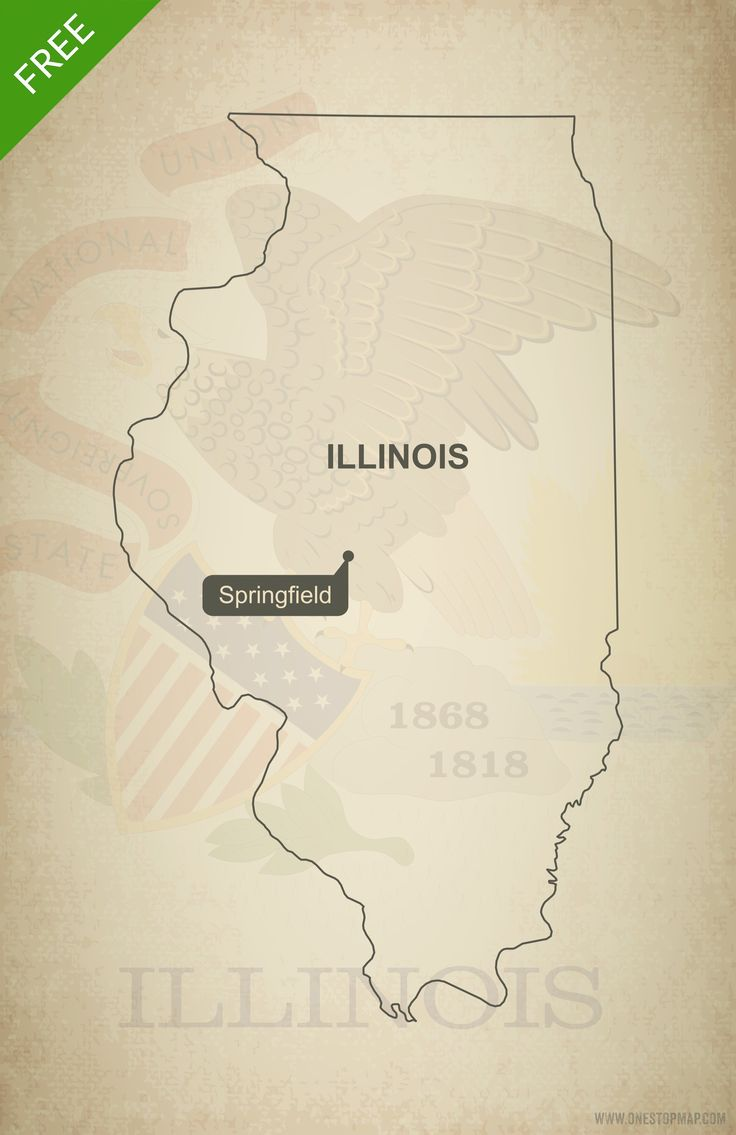 Free vector map of Illinois outline 227