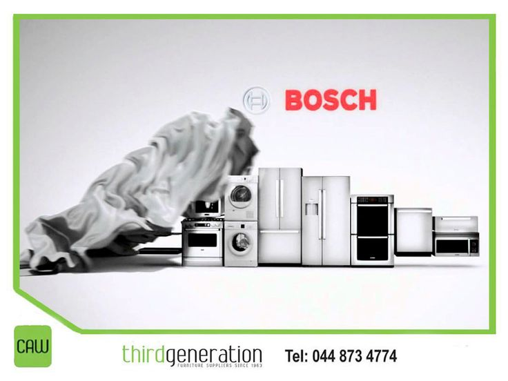 Bosch's full line of household appliances helps make every day life a little easier. Visit us in-store or contact us on 044 873 4774 for our huge range available. #ThirdGenerationCAW #appliances #lifestyle #Bosch