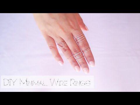 DIY Wire Rings   Φτιάξε δαχτυλίδια με σύρμα - YouTube