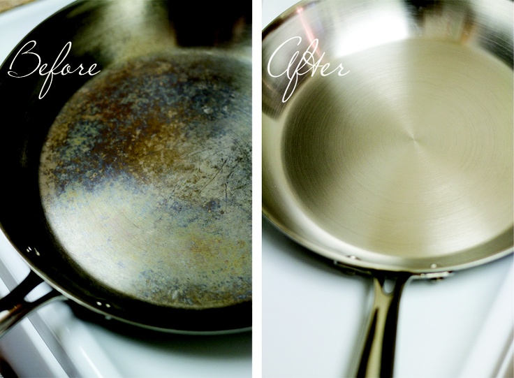 how to fix seasoned stainless steel cookware that is brown and sticky. Black Bedroom Furniture Sets. Home Design Ideas