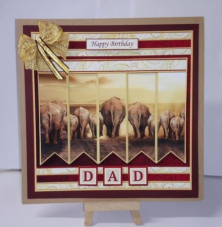 ELEPHANTS 7.5 Alphabet and Age Quick Card Kit Create Any Name - CUP872328_68   Craftsuprint