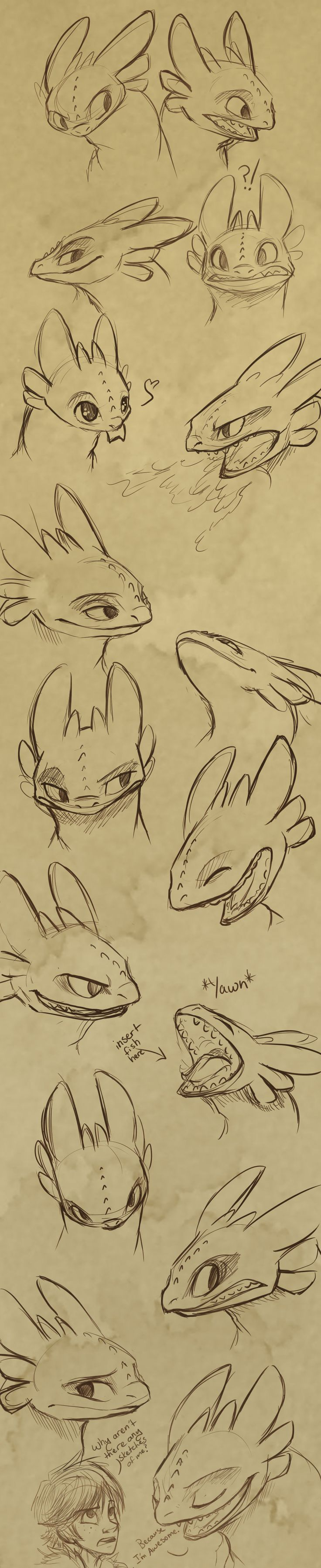 Toothless Expressions by *sharpie91 on deviantART. *Loves*
