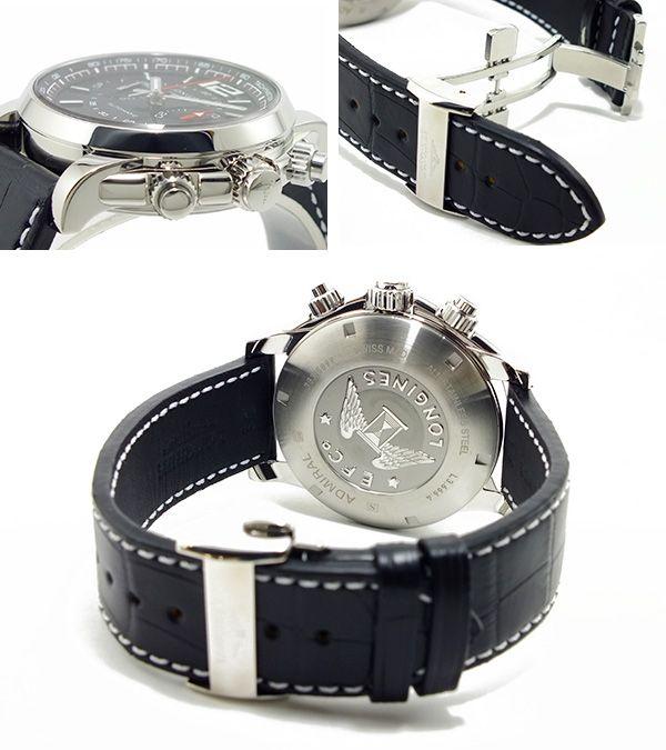 ロンジン LONGINES アドミラル 自動巻き 腕時計 L36664562 ベルト バックル 背面