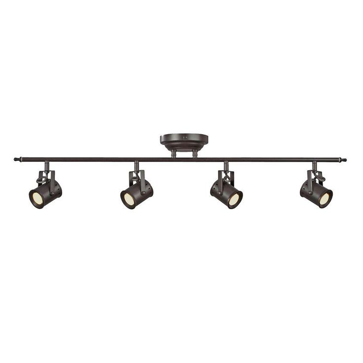 Aspects Studio 4-Light Oiled Rubbed Bronze Dimmable Fixed Track Lighting Kit-STUF430030LRB - The Home Depot