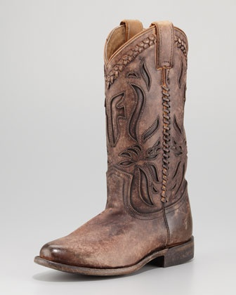 Wyatt Overlay Antique Boot by Frye at Neiman Marcus.