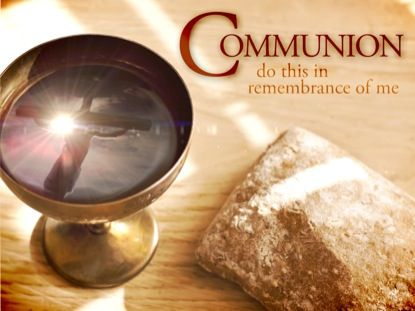 """Holy Communion, because by this sacrament we unite ourselves to Christ, who makes us sharers in his Body and Blood to form a single body. We also call it: the holy things (ta hagia; sancta) - the first meaning of the phrase """"communion of saints"""" in the Apostles' Creed - the bread of angels, bread from heaven, medicine of immortality, viaticum. . . . [ CCC 1331 ]"""
