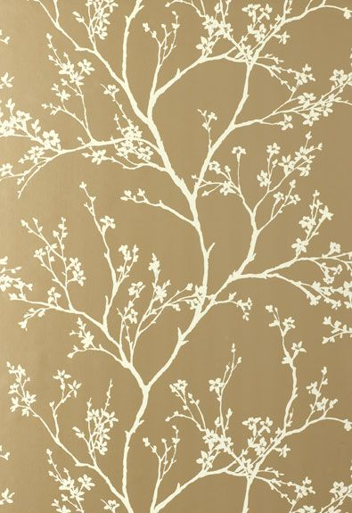 Doing this wallpaper in a dining room with white wainscoting and silver/gold silk draperies. Gorgeous!
