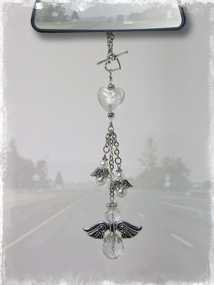 Guardian Angel Car Charm - Rear View Mirror Car Accessories.