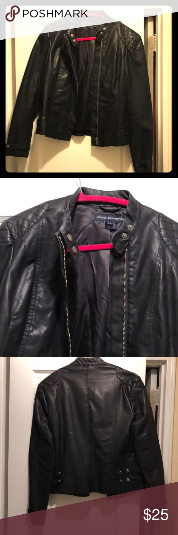 French Connection Leather Motorcycle Jacket French Connection Faux- Leather Motorcycle Jacket French Connection Jackets & Coats