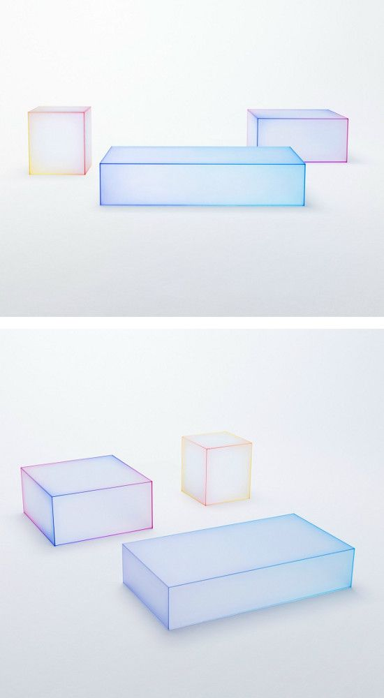 nendo makes 'Soft' the #glass - The collection for Glas Italia at solo exhibition during Milano Salone 2015 #table