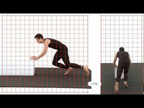 Push: Athletic Male: Grid Overlay - Animation Reference